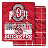 NCAA College Double-Sided (60' x 70') Basketball - Football Stadium Game - Throw Blankets - Choose Team (Ohio State Buckeyes)