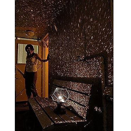 Science Museum Stars Lampen-Projektor 12 Gesichter 360 Grad romantisches Astro Planetarium Sterne Himmelsprojektor Geschenk f/ür Kinderzimmer Free Size Schwarz