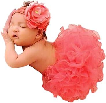 Newborn Baby Girls Tutu Skirt+Flower Headband Photo Photography Prop Outfit UK