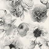 Diamond Bloom Floral Wallpaper Mono Arthouse 257001