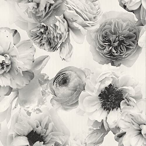 Black Floral Wallpaper Amazon Com