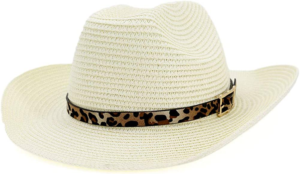 Fange Women Sun Straw Hat Folding Beach Summer Finshing Cap UPF 50+