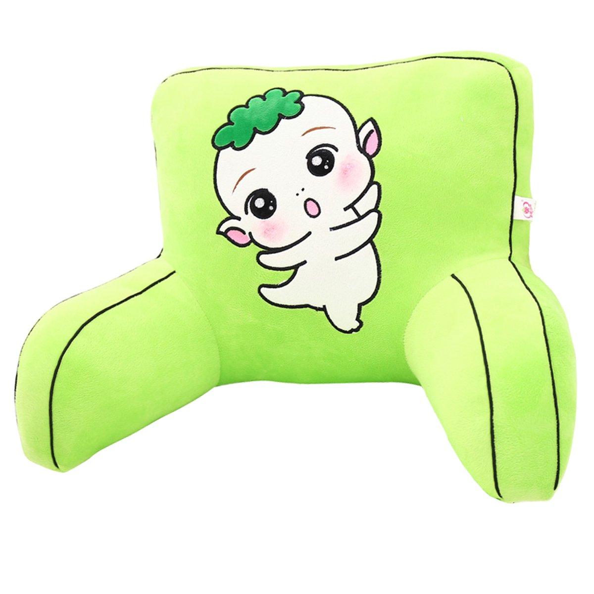 Adorable Green Radish Elves Lumbar Support Backrest Pillow Waist Seat Back Cushion Pillow in Home Office School Car