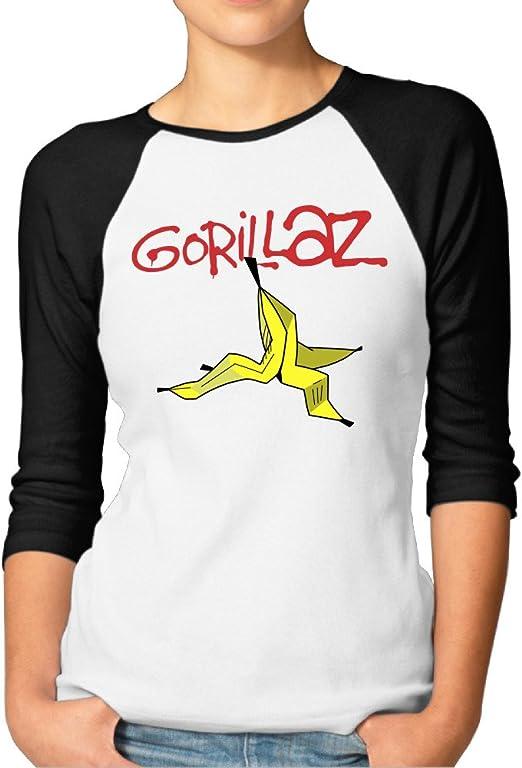 Logo Neu Damen T-Shirt Gorillaz