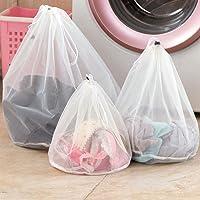 BESTOMZ Elbise iç çamaşırı çorap, file çamaşır torbası, çamaşır torbası, çamaşır filesi, büzme ipli, çamaşır makinesi…