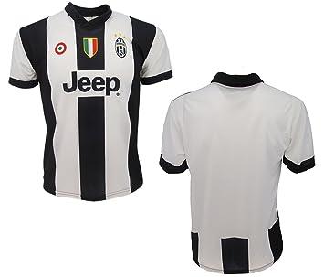 Camiseta Juventus, réplica oficial 2016 – 17 sin nombre número, para niño, edad 12, 10, 8, 6, 4, 2: Amazon.es: Deportes y aire libre