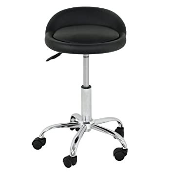 Rolling Swivel Stool W/Wheels Adjustable Tattoo Facial Massage Saddle  Hydraulic Spa Salon Beauty Stools