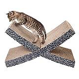 Edxtech Cat Pet Scratcher Kitten Lounge Scratching Kitty Bed Play Toy X-shaped