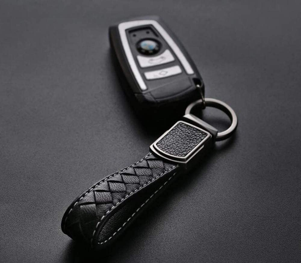 Comfortable Durable Charming Sheepskin Car Home Key Chain Ring Tag for Men and Women Wine Red