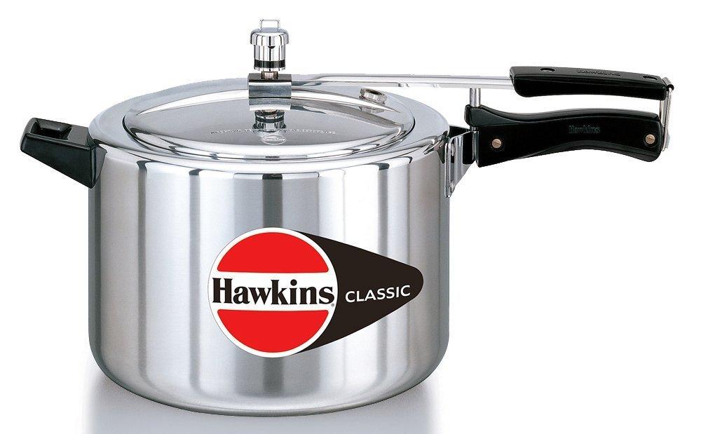 Hawkins CL-8W Classic Aluminum Pressure Cooker, 8 Litre, Silver