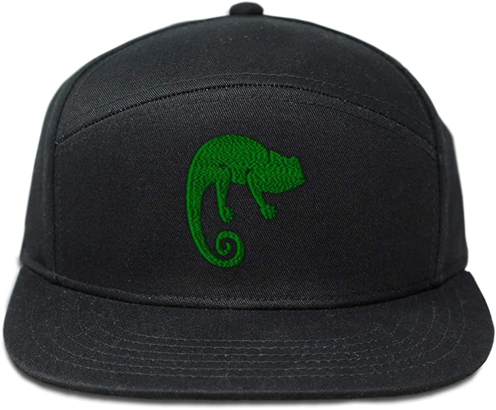 Custom Snapback Hats for Men /& Women Green Chameleon Embroidery Cotton Snapback