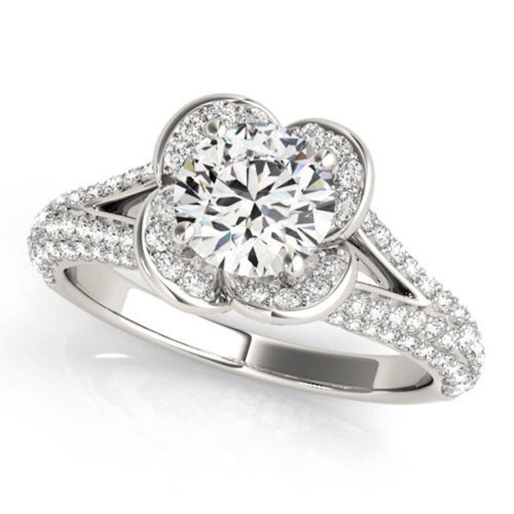 Rare 0.97 ct J-K Moissanite Engagement wedding Ring 925 Sterling Silver