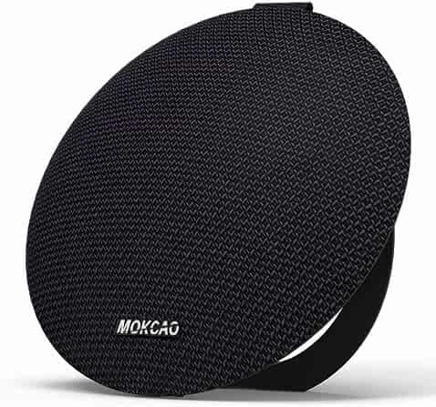 Bluetooth Speakers 4.2,Portable Wireless Speaker with 15W Super Stereo Sound,Strong Bass,Waterproof IPX7, 2500mAh Battery,MOKCAO STYLE Perfect for iPhone/Android devices,Colorful Christmas Gift-Black