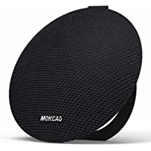 mokcao estilo Portable Impermeable Bluetooth Altavoces V4.2 con 15 W superior sonido estéreo, Richer Bass, micrófono integrado, regalo perfecto de exterior & interior Wireless Altavoz para Iphone & dispositivo Android, Colorful Good, Negro