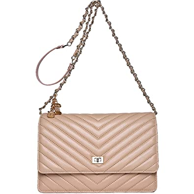 Neverout Shoulder Bags for Women Sheepskin Leather Thread Style Crossbody  Purse (NP2135) (apricot ae7b111805a9f