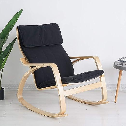 cuscino per sedia a dondolo Cuscino di ricambio per sedia a dondolo cuscino per divano Nero cuscino per sedia a dondolo