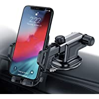 Car Phone Mount, Universal Car Phone Holder Dashboard Windscreen, Long Arm, Washable Strong Sticky Gel Pad Fit for iPhone X XS Max XR 8 Plus 7 Plus 6 Plus Samsung Galaxy S9 Plus S8 S7 S6 S5 Note 9