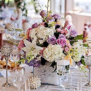 BalsaCircle 84 Lavender Silk Open Roses - 12 Bushes - Artificial Flowers Wedding Party Centerpieces Arrangements Bouquets Supplies 5