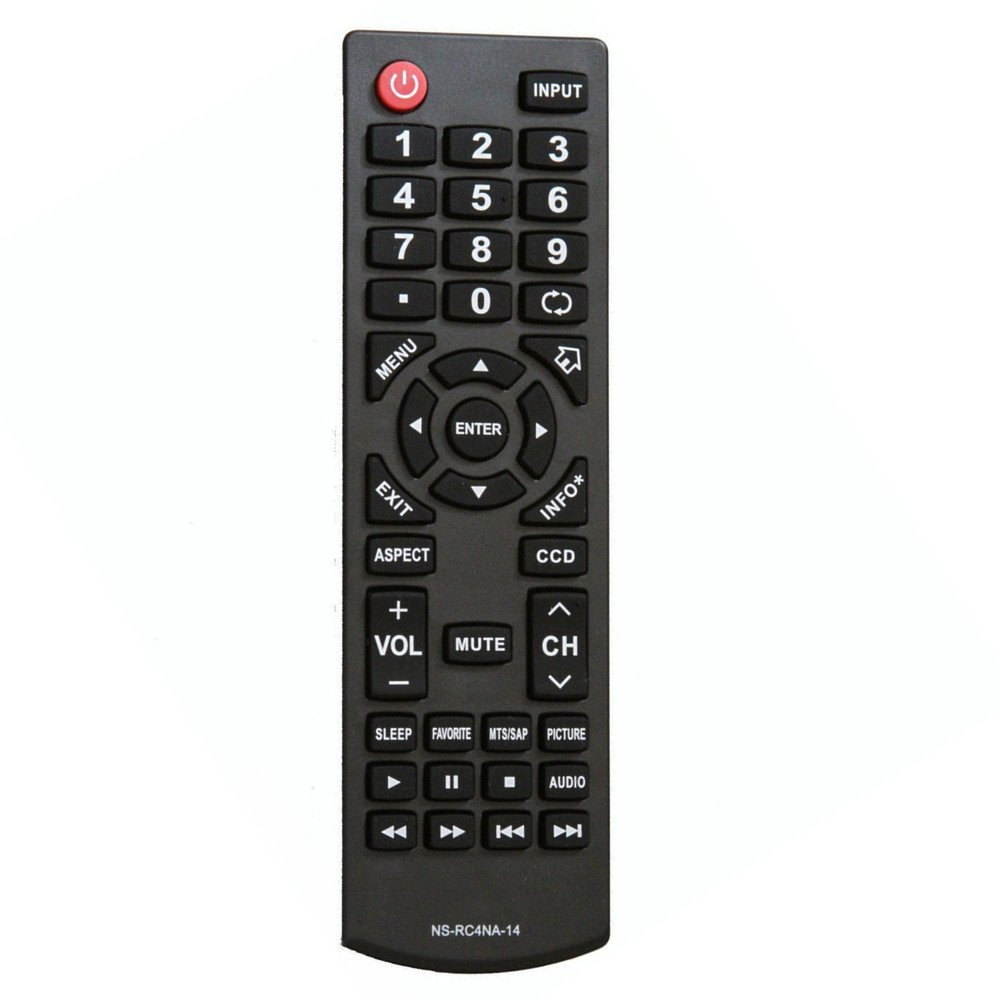 NS-RC4NA-14 Replacement Remote Control fit for Insignia TV NS-55D550NA15 NS-50L440NA14 NS-39L700A12 NS-40D40SNA14 NS-55D440NA14 NS-39D310NA15 NS-48D510NA15 NS-19E310NA15 NS-24D510NA15 NS-28D310NA15 NS-39D40SNA14 NS-32D201NA14 NS-46D40SNA14 NS-50DSNA14 NS-4