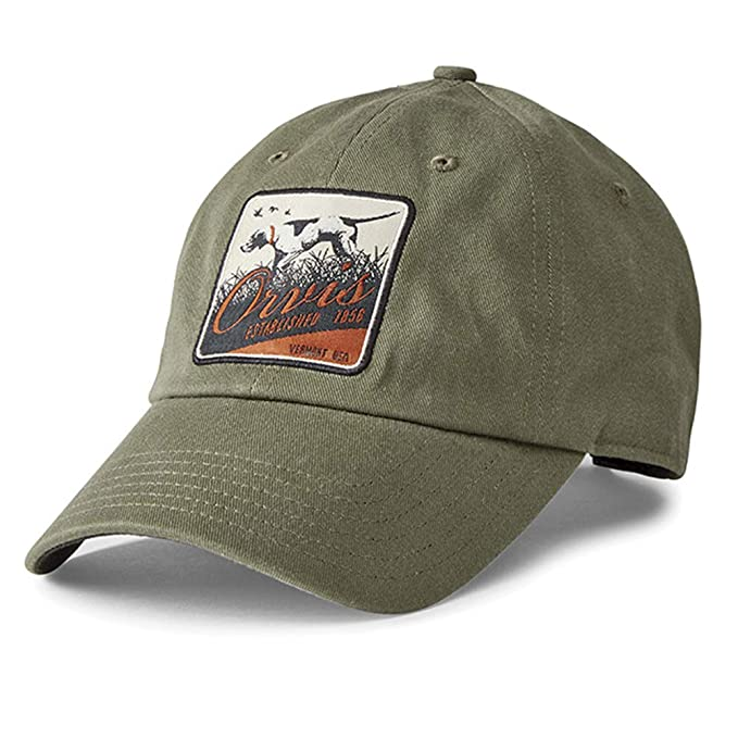 d59c23a7c Orvis Men's Pointer Patch Twill Cap, Olive at Amazon Men's Clothing ...