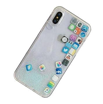 e911c2f6b0 Amazon   Lanjp iPhone 7/iPhone 8ケース 最新アイコン流砂シリーズが ...