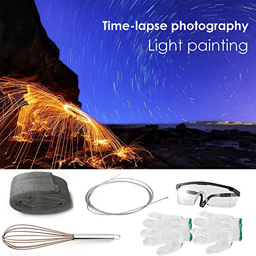 Selens Photography Props Steel Wool Fireworks for Light Painting Graffiti Long-Exposure Set
