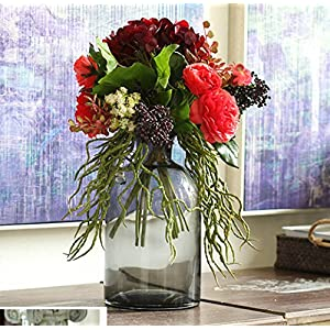 FYYDNZA Simulation Hand Held Flower Red Rose Hydrangea Simulation Bouquet Flower Silk Flower 51