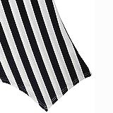 FarJing Hot Sale Women Striped Irregular Hem Ruched Sleeveless Tank Tops Pullover T-Shirt Blouse