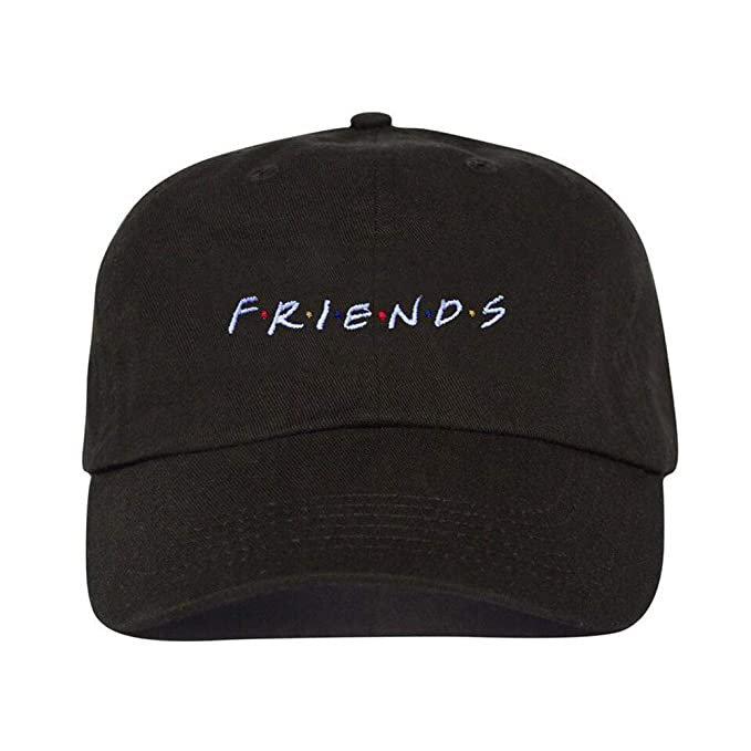 6057c2c9549a5 Friends Embroidered Adjustable Six Panel Dad Hat 100% Cotton at ...