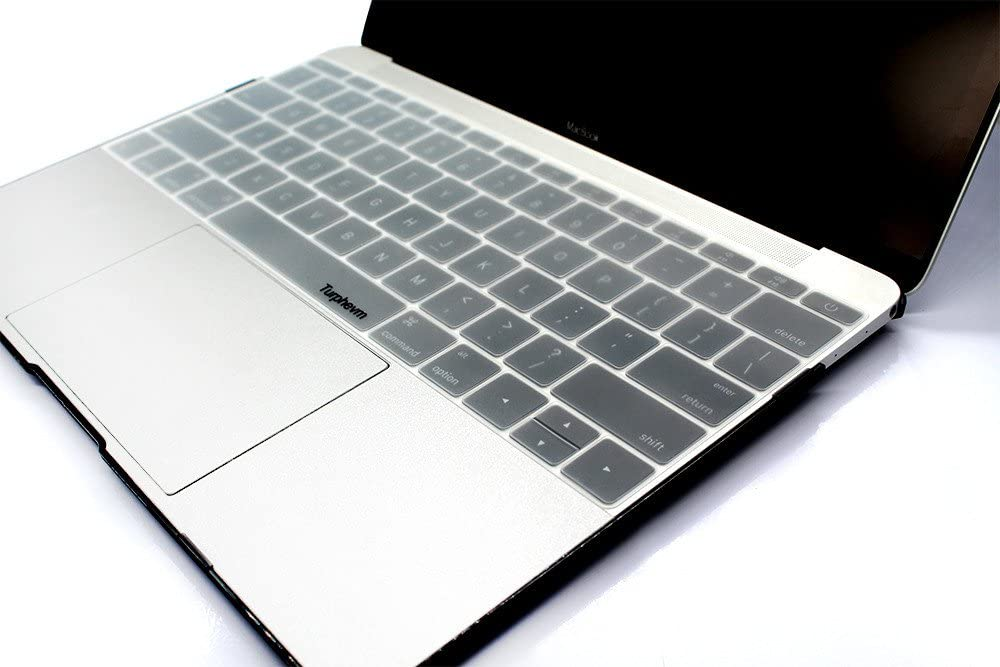 Ultra Thin Silicone Keyboard Protector Skin for Macbook 12 A1534 and New Macbook 13 A1708 2016//2017 Version, NO Touch Bar Turphevm Clear Keyboard Cover