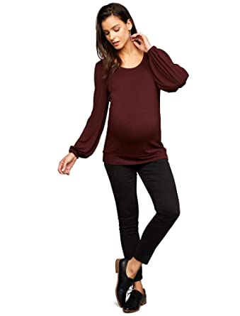 c6c77511b9d57 A Pea in the Pod Secret Fit Belly Sateen Skinny Leg Maternity Pants Black