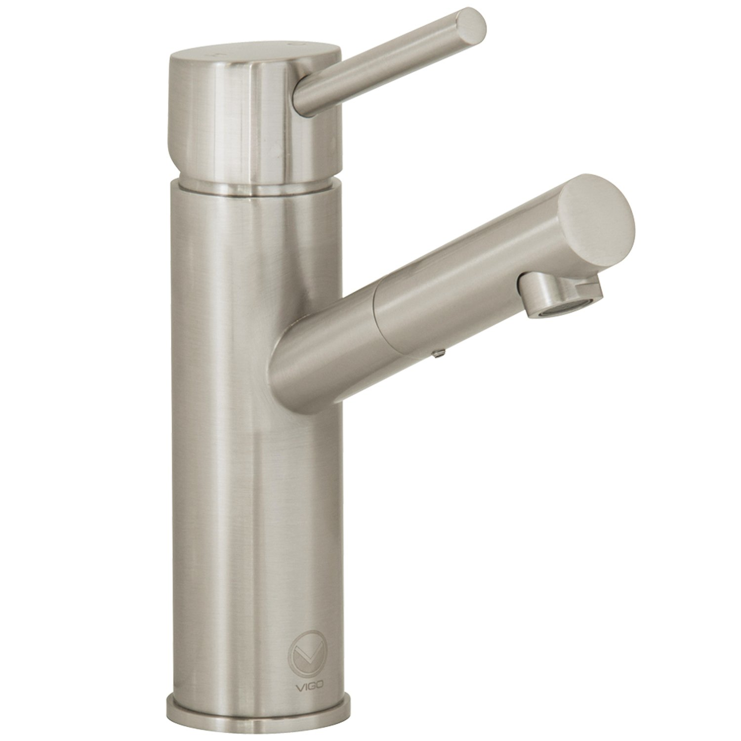 VIGO Noma Single Lever Basin Bathroom Faucet, Brushed Nickel ...