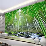 BZDHWWH Large Custom Fresco Wallpapers Realistic 3D Bamboo Forest Tv Wall Papel De Parede Para Quarto Wall Paper,160Cm (H) X 240Cm (W)