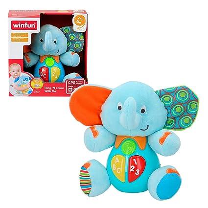 Winfun - Peluche Elefante Para Bebés Que Habla Y L...