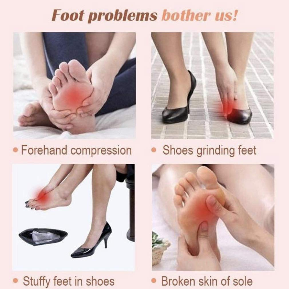 2 Pairs Silicone Soft Honeycomb Forefoot Pain Relief