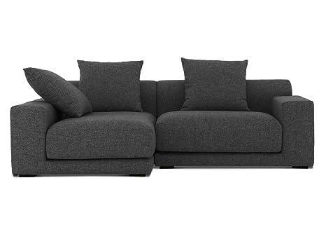 Sofá - sofá R - tela sofá - grafito - CLOUD: Amazon.es ...