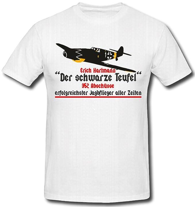 Erich Hartmann Der Schwarze Teufel Luftwaffe Marine Ju 45 - T Shirt ...