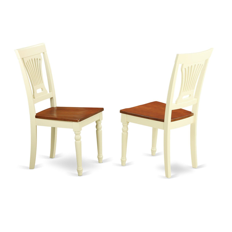 Kaka Pvc Kitchen Furniture: East West Furniture PVC-WHI-W Kitchen/Dining Chair Set