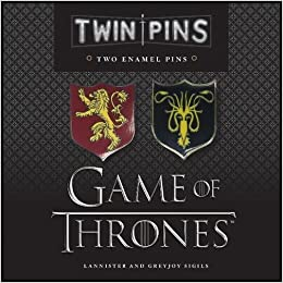 game of thrones twin pins lannister and greyjoy sigils two enamel pins