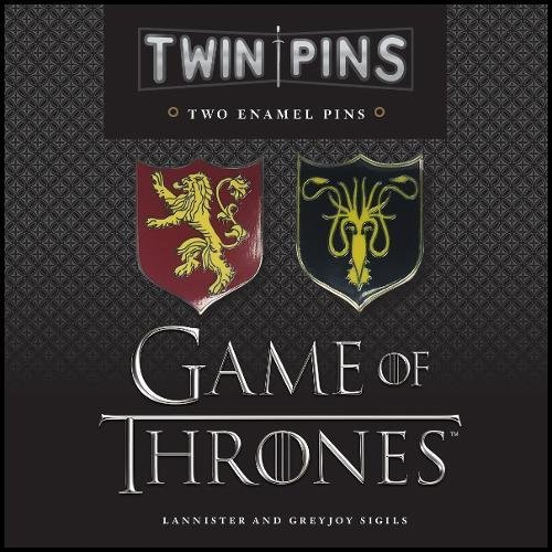 Game of Thrones Twin Pins: Lannister and Greyjoy Sigils: Two Enamel Pins
