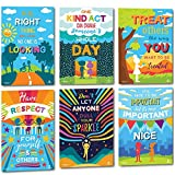 Sproutbrite Classroom Kindness Posters for Decorations - Educational & Inspirational Growth Mindset & Empathy for Teacher, Students - 6 Poster Pack