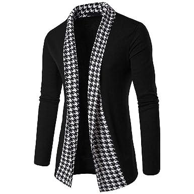 UINGKID - Camisa de Manga Larga para Hombre, Color Negro, Blanco ...