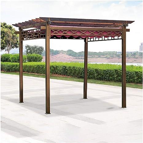 HLZY Gazebo de Muebles de jardín Jardín Gazebo de Madera ...