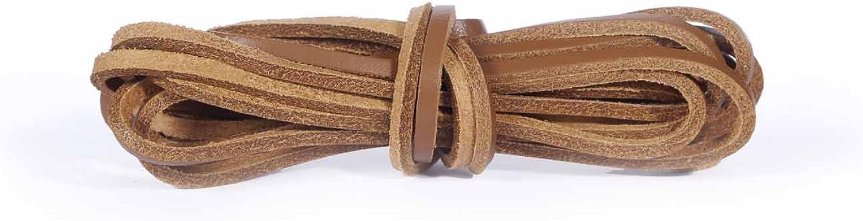Kaps Cordones de Cuero, Cordones de Zapatos de Cuero 100% Piel Legítima, Fabricados en Europa, 1 par, Múltiples Colores y Longitudes