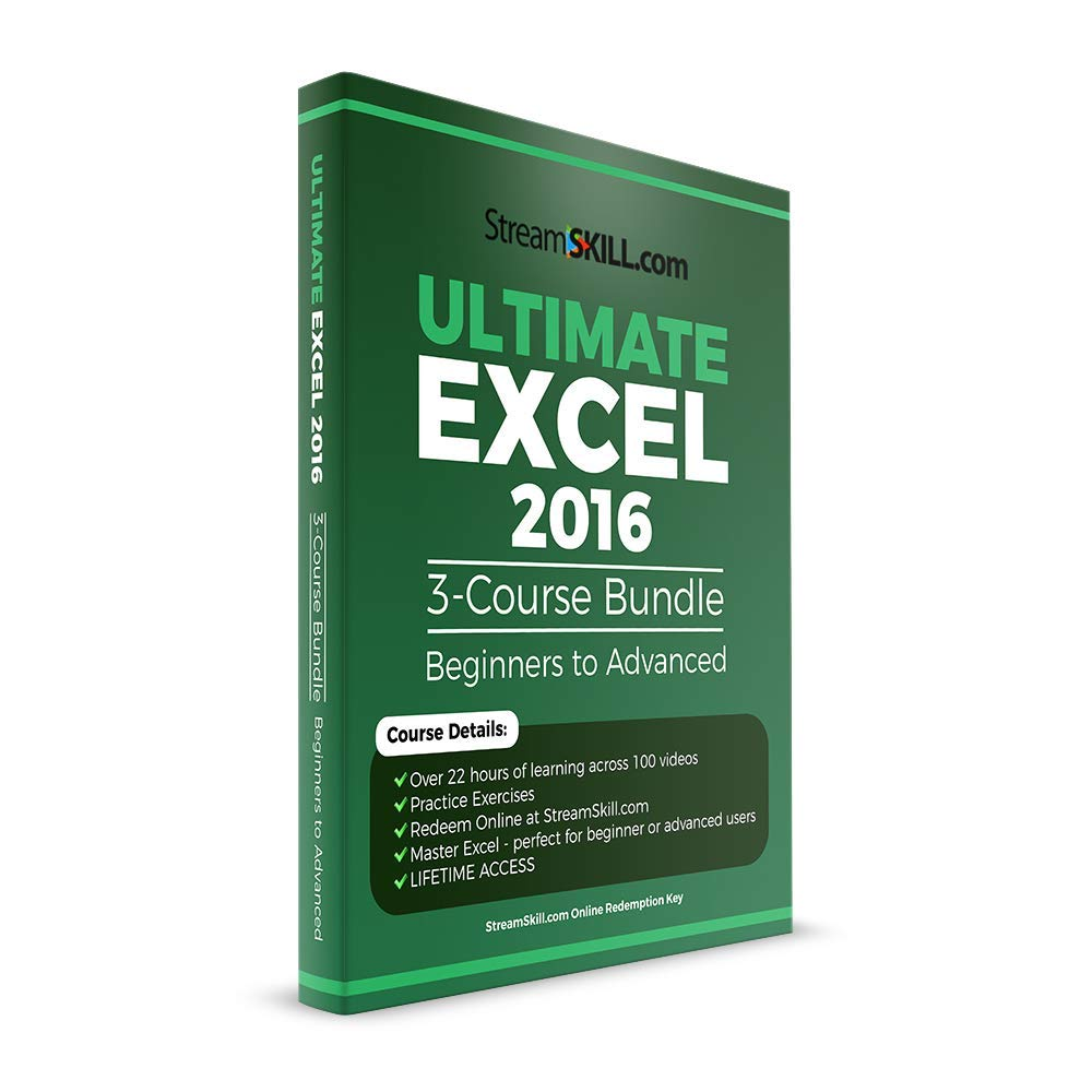 Ultimate Excel 2016 by Stream Skill - Learn Excel Beginner to Advanced Excel Video Tutorials (Online Key) by Stream Skill