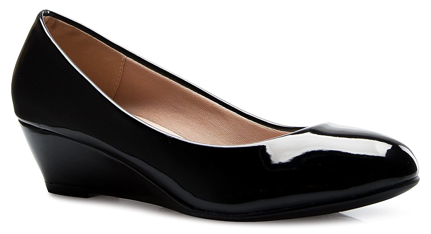 Image result for Olivia K Round toe low wedge