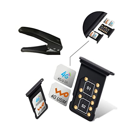 huge selection of bcd51 cc017 Dual SIM Card Adapter Sets for iPhone X 8 7 6S 6 Plus,RXTECH Switch ...