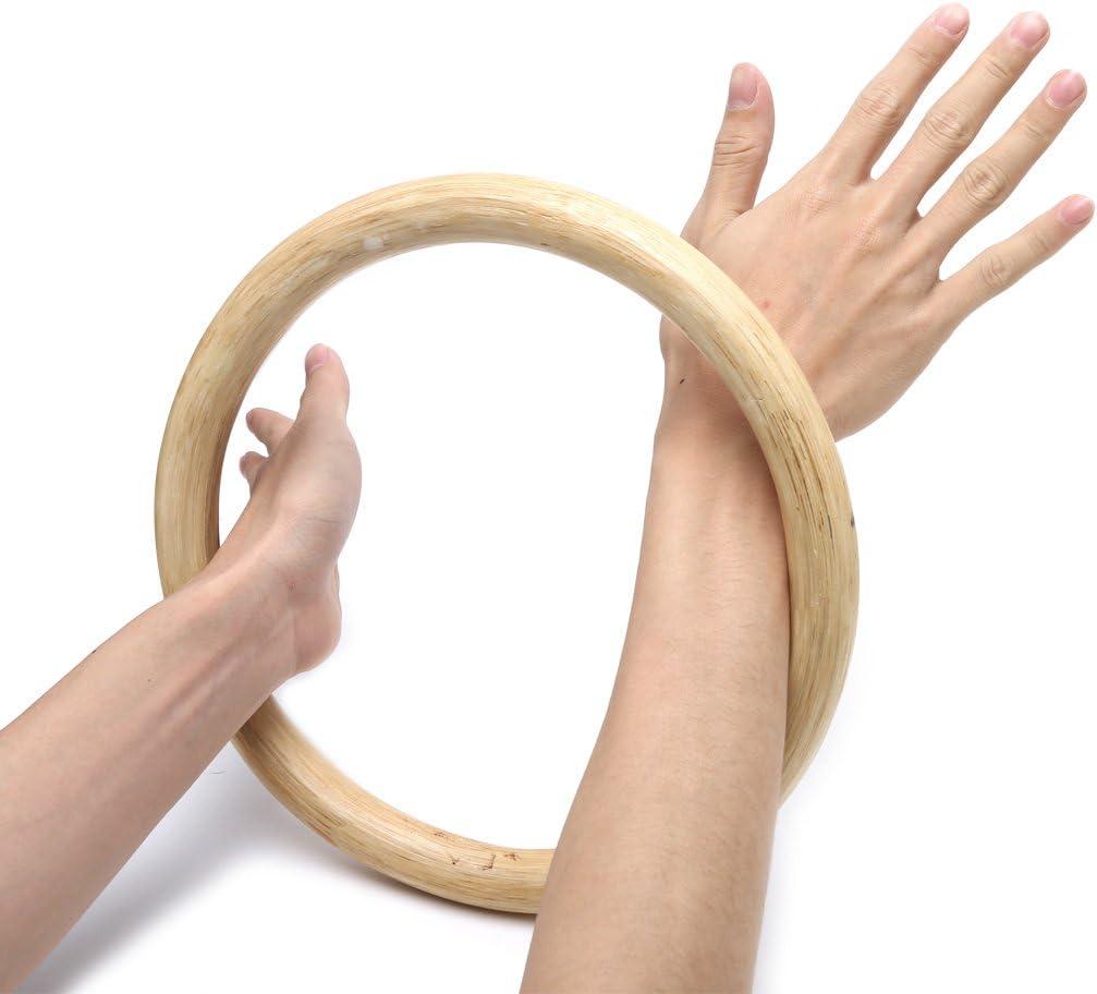 junengSO Chinois Kung Fu Wing Chun Hoop Bois rotin Anneau Collant Main Musculation