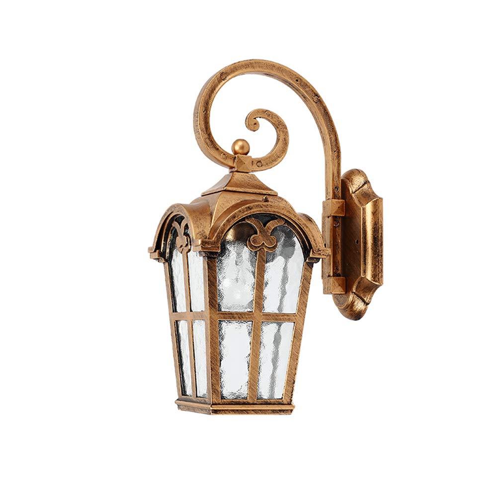GaoHX Lampade da Parete, Lampada da Parete per Esterni Impermeabile Europeo Muro Muro Lampada da Giardino Giardino Esterno Lampada Balcone corridoio corridoio Lampada Antica Roma (Colore   Bronzo)