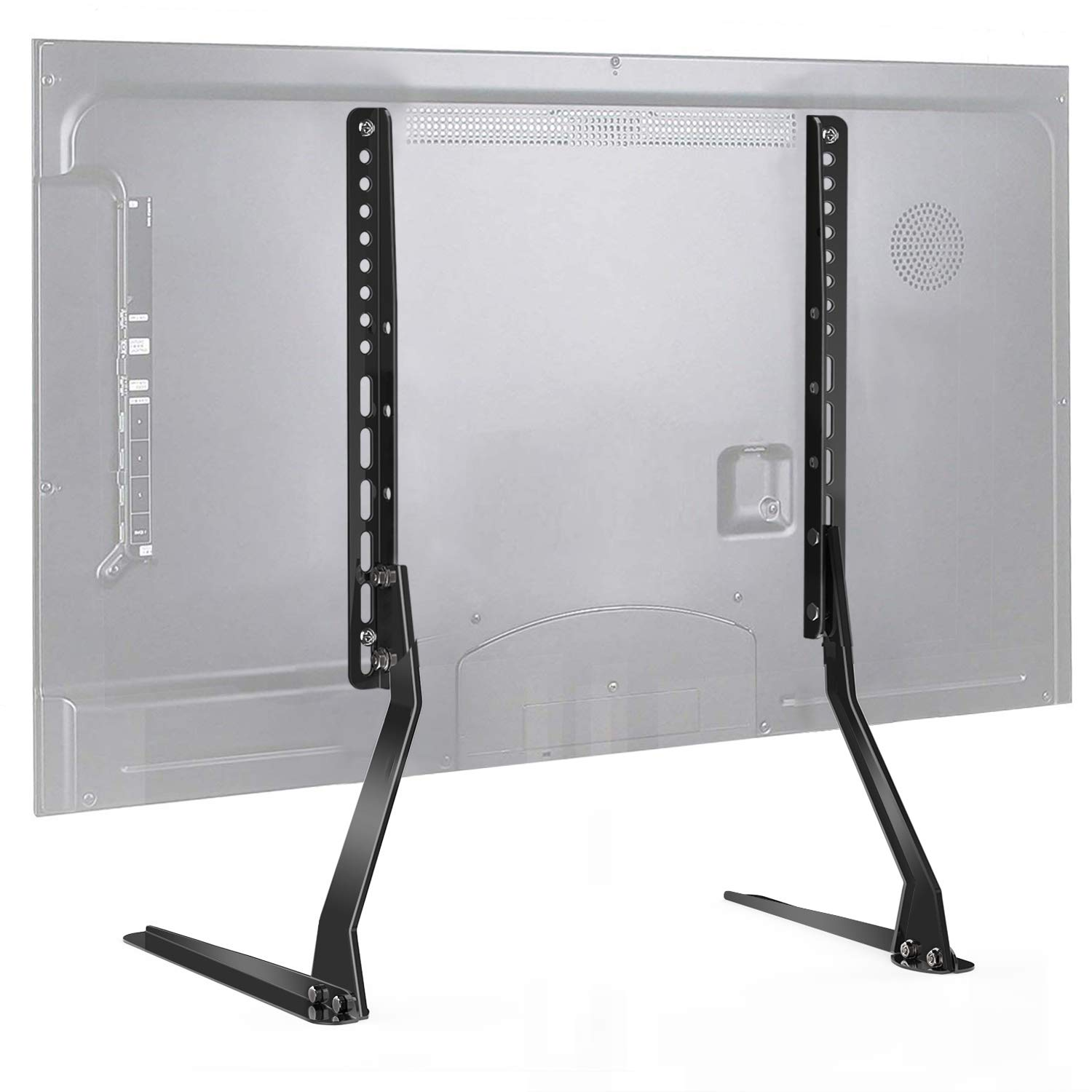 PERLESMITH Universal Table Top TV Stand for 37 - 70 Inch Flat Screen, LCD TVs Premium Height Adjustable Leg Stand Holds up to 110lbs, VESA up to 800x400mm by PERLESMITH